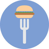 Junk fast foods icon. Royalty Free Stock Photo