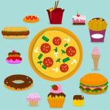 Junk Food Foto de archivo libre de regalías