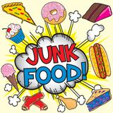 Junk food! vector illustration