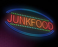 Junk food concept. Royalty Free Stock Photos