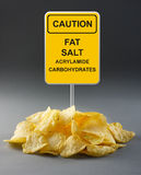 Junk food concept Stock Image