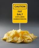 Junk food concept. Potato chips Stock Image