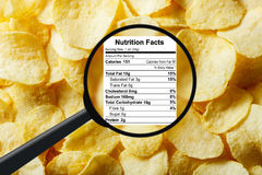 Junk food concept. Potato chips Royalty Free Stock Photo