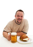 Junk food consumer happiness Royalty Free Stock Image