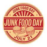 Junk Food Day,  July 21. Rubber stamp, vector Illustration Royalty Free Stock Images