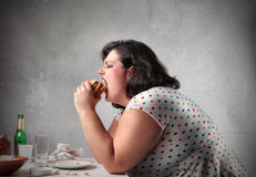 Junk food for dinner Stock Photo