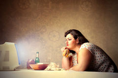 Junk food for dinner Stock Photography