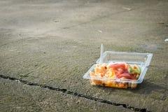 Junk Food en el piso Fotos de archivo libres de regalías