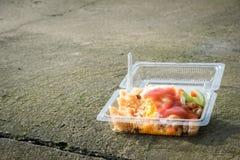 Junk Food en el piso Foto de archivo libre de regalías