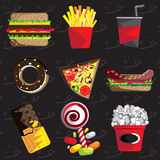 Junk food. Or fast food Stock Photos