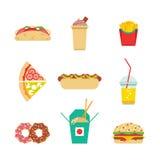 Junk food fast food Royalty Free Stock Photos