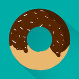 Junk food flat style icons for your design.  Stock Photos