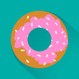 Junk food flat style icons for your design.  Stock Photo