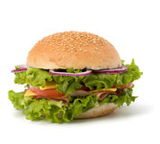 Junk food hamburger Royalty Free Stock Photography