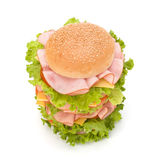 Junk food hamburger Stock Image