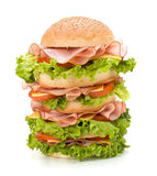 Junk food hamburger Stock Images