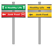 Junk food or a healthy life Royalty Free Stock Images