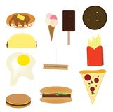 Junk Food Illustration Stock Photos