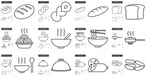 Junk food line icon set. Junk food vector line icon set isolated on white background. Junk food line icon set for infographic, website or app. Scalable icon vector illustration
