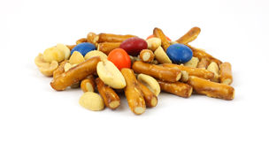 Junk food trail mix Royalty Free Stock Photo