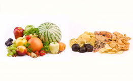Free Junk Food VS Healthy Food Stock Photos - 20972113