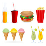 Junk foods Royalty Free Stock Photography