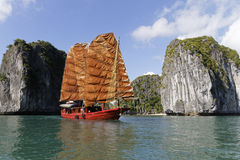 Junk in Ha Long Bay Royalty Free Stock Photo
