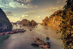 Junk Ha Long Bay Vietnam. Stock Photography