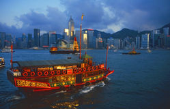 Junk in Hong Kong harbour Royalty Free Stock Photo