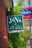 Junk & Jewels sign. Store sign for junk & jewels royalty free stock image