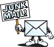Junk Mail character Stock Photo
