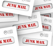 Junk Mail Pile Stack Envelopes Direct Marketing Advertising Lett Stock Images