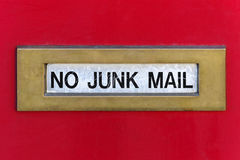 Junk mail slot Royalty Free Stock Photography