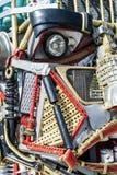 Junk Metal Human Robot Face Detail Royalty Free Stock Photos
