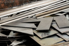 Junk metal sheets Royalty Free Stock Images