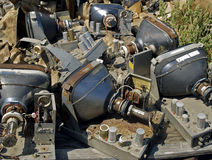 Junk monitors. Junk video monitors stacked in a pile Royalty Free Stock Images