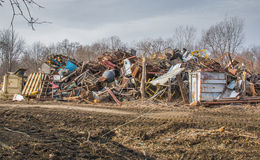 Junk pile. Colorful pile of junk Royalty Free Stock Image