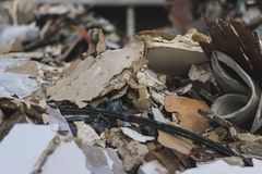 Junk pile of old building. Royalty Free Stock Image