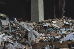 Junk pile of old building. Stock Images