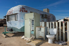 Junk at salvation mountain by slab city in california Royalty Free Stock Images