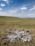 Junk in the steppe Stock Photo