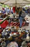 Junk vendor table Stock Photography