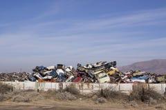 Junk yard stock photos