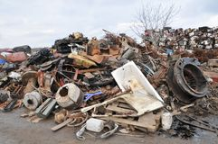 Junk yard Royalty Free Stock Photos