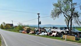 Junk yard Stock Images