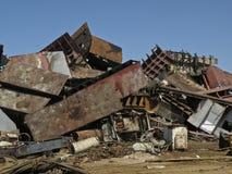 JUNK YARD. A photo of a pile of metal scrap in a junk yard Stock Image