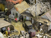 Junk Yard and a Community. My Dad built every single part of this little town by hand. Board by board for the buildings, rock, trees, etc. Fine Detail. He was Royalty Free Stock Photos