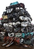 Junk yard with metal waste. Junk yard with heap of metal waste Stock Photos