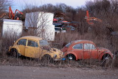 Junk yard in rural Iowa Stock Photography