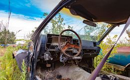 Junk Yard Salvage Stock Image